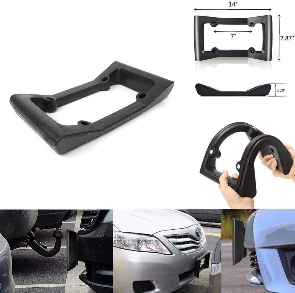 Protezione targa auto auto nero paraurti anteriore guardia EVA targa tag cornice proteggi copri acessorios automotivo