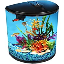 Koller Products AquaView 3.5-Gallon Fish Tank with Power Filter and LED Lighting