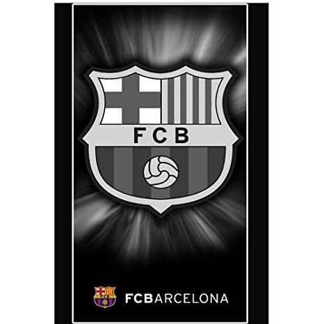Toalla Playa FC Barcelona 100x170 cm Black-negro (producto oficial)
