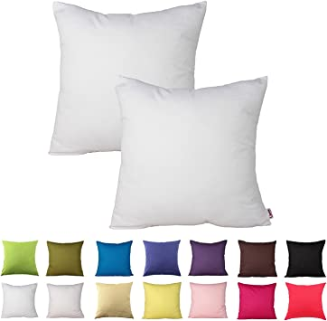 Cushion Cover Pillow Case Decorative Cushion Pillow 40x40 in 15 Sizes 100/% Cotton