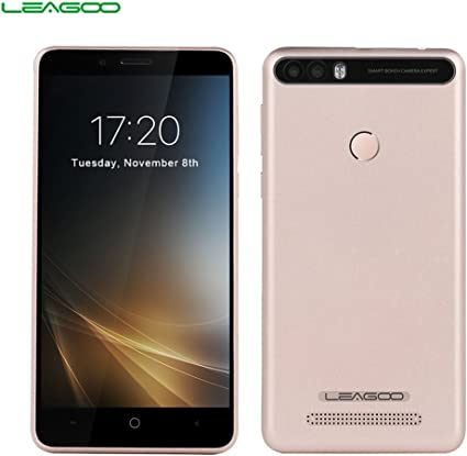 LEAGOO KIICAA Power - 3G Smartphone 5.0HD (Doble Cámara, 4000 mAh, Android 7.0, RAM 2gb ROM 16gb, MediaTek MTK6580 4 núcleos, Lector de Huellas), Oro: Amazon.es: Electrónica