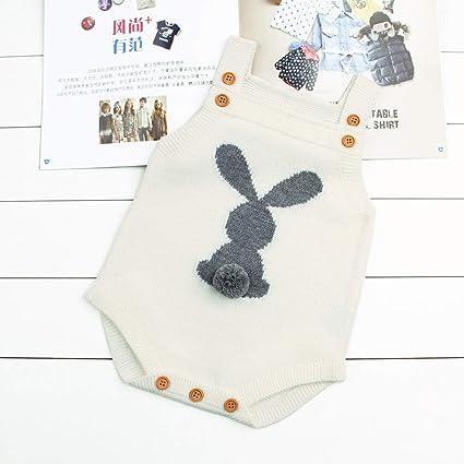 5f6f935dc goodstore5489 Rompers - Cute Newborn Baby Boy Girls Bunny Knitting Wool Pom  Pom Romper Jumpsuit Easter