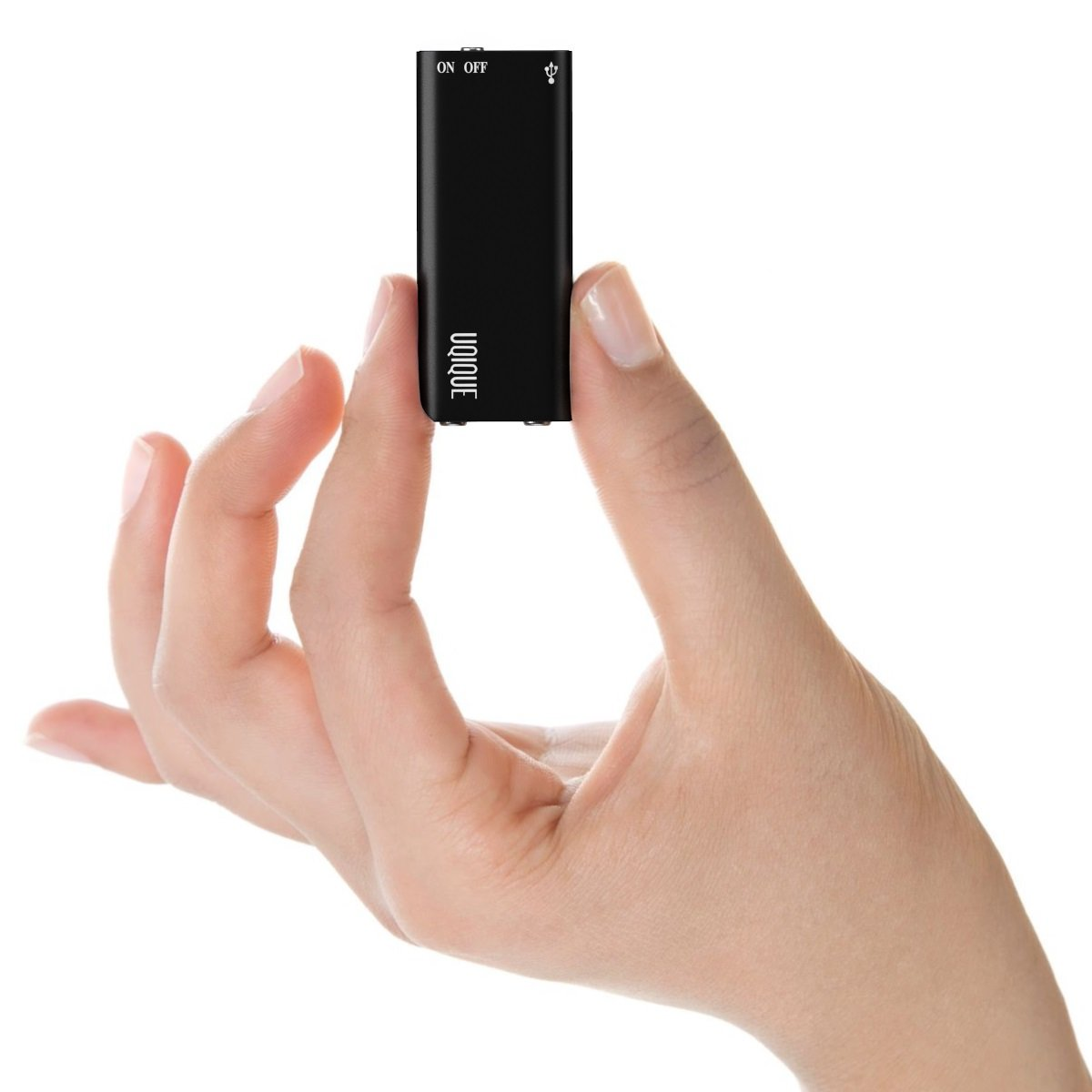 Uqique Mini USB Voice Recorder with Playback, Black