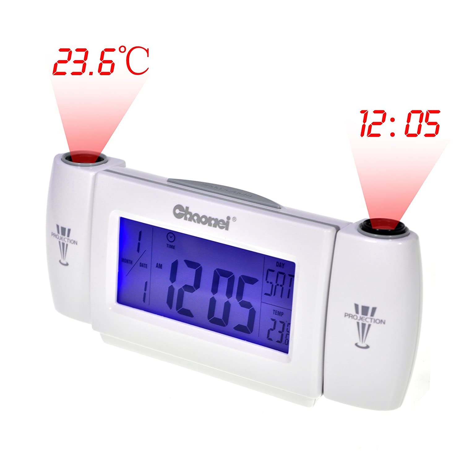 Amazon.com: Generic Dual Projection Alarm Clock Clapping Voice Controlled Despertador Reloj Despertador CA1T: Home & Kitchen