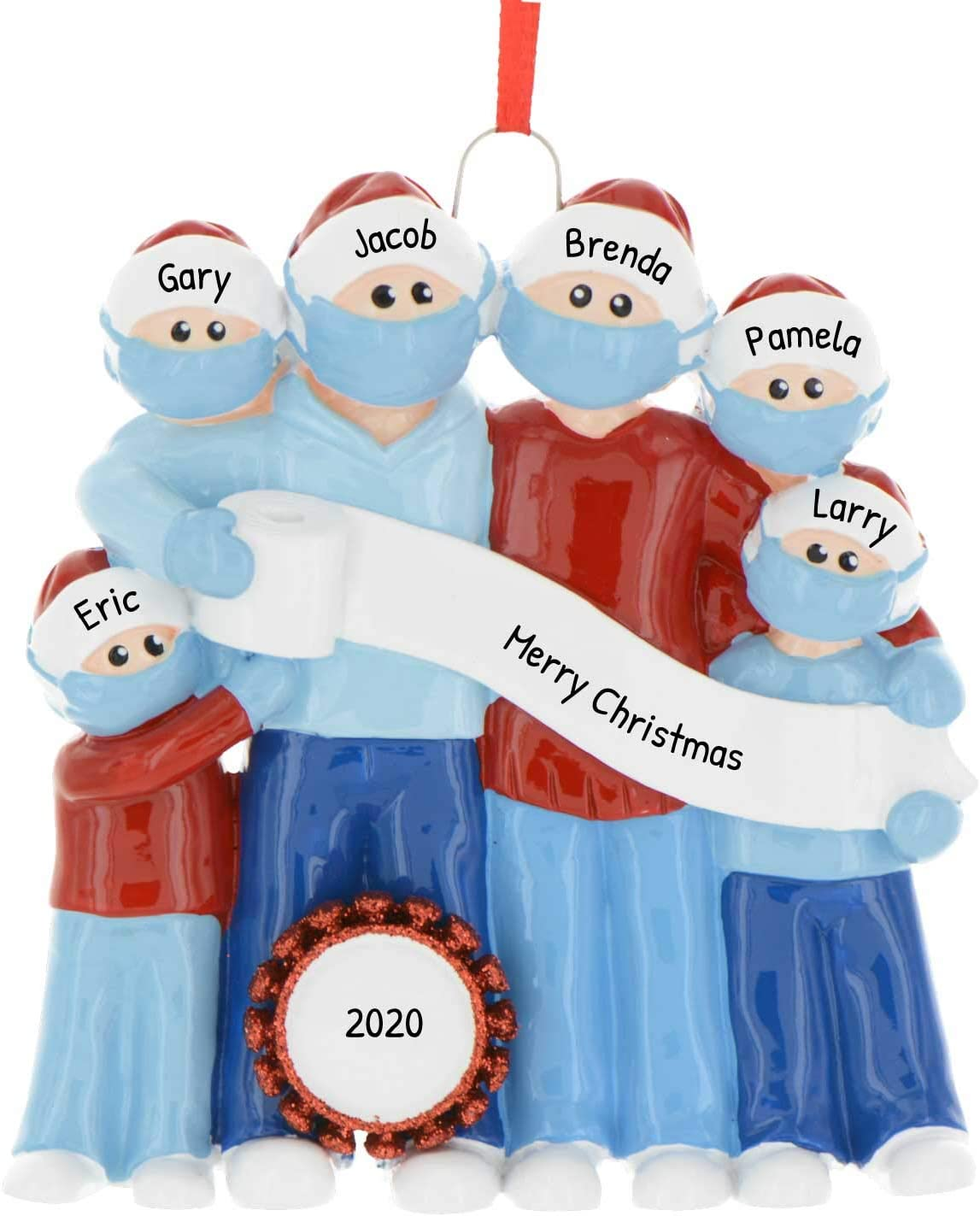 2020 Home Christmas Gifts Amazon.com: Personalized Survival Family of 6 Christmas Tree