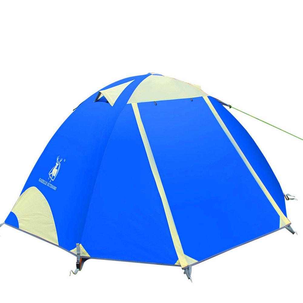 TLMY Doppeltes Aluminium Regendicht Camping Zelt Emblem Antelope Outdoor Zubehör Camping Zelt Zelte