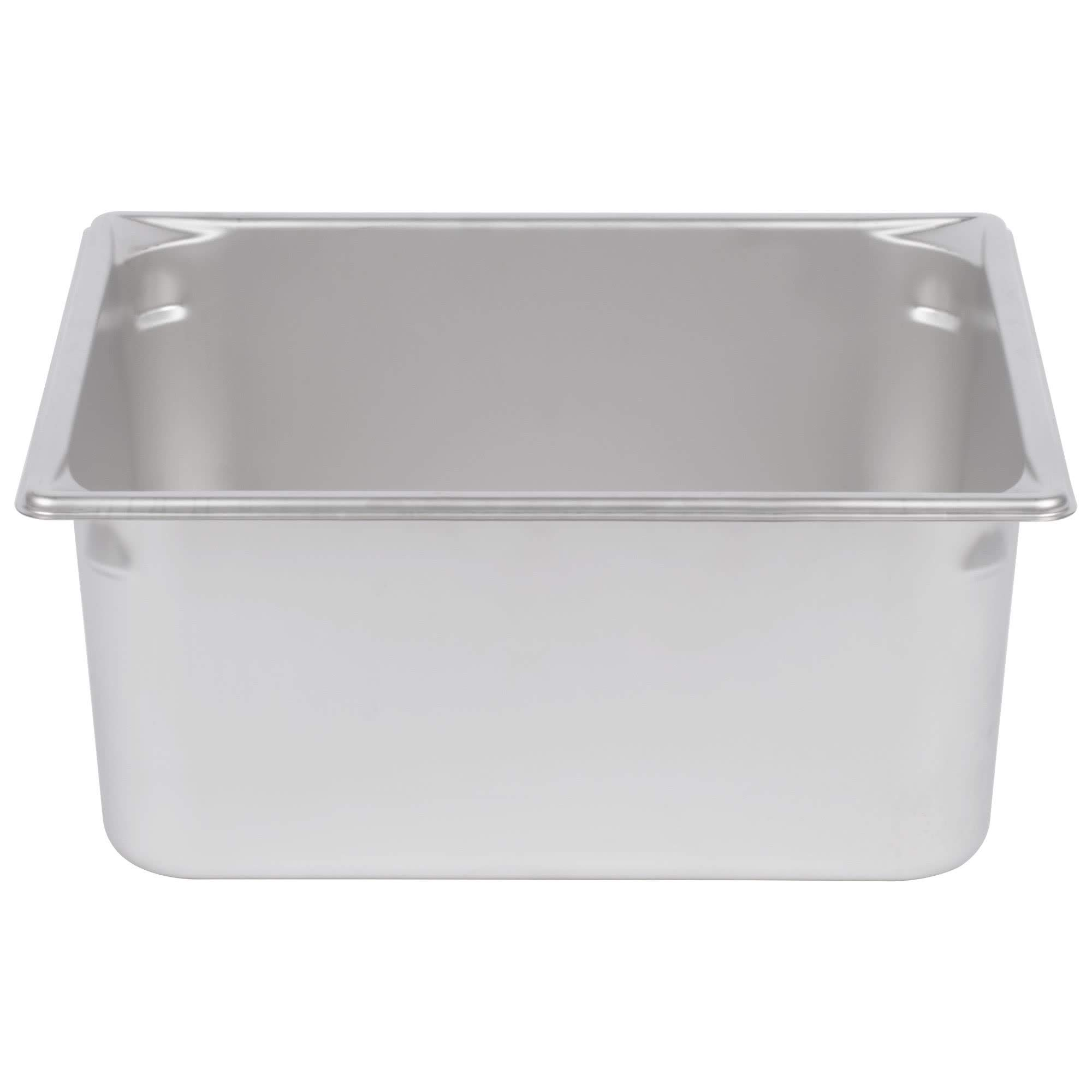 TableTop King 30162 Super Pan V 2/3 Size Anti-Jam Stainless Steel Steam Table/Hotel Pan - 6'' Deep by TableTop King