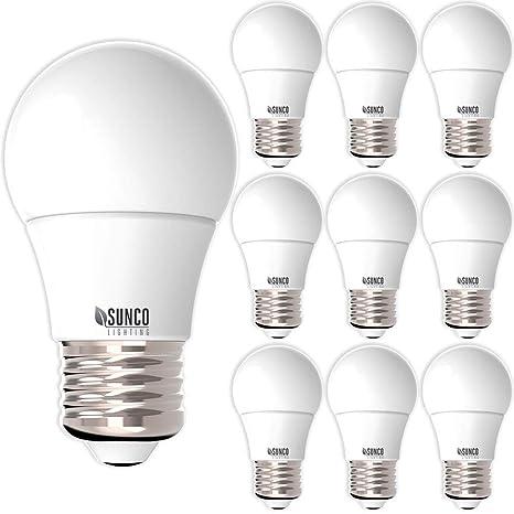 Sunco Lighting 10 Pack A15 Led Bulb 8w 60w 3000k Warm White