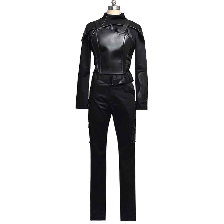 Amazon.com: Mujer Hunter Katniss Everdeen Cosplay negro ...