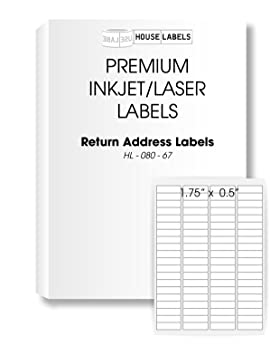 25 sheets 2 000 labels same size as avery 5167 80 up return