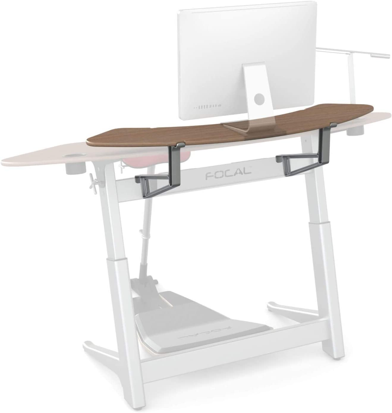 Active Collection Locus 5/6 Shelf for use with Locus 5 and Locus 6 Desks (sold separately), Black Walnut
