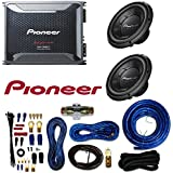 Pioneer TS-W106M 1100W Peak (250W RMS) 10 Single 4-Ohm Car Subwoofer GM-D8601 Mono subwoofer amplifier 800 watts RMS at 1 ohm and Amplifier Wiring Kit
