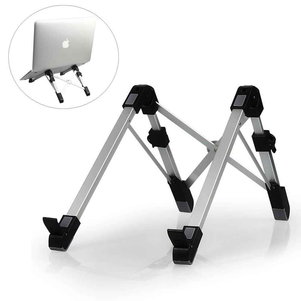 Pano Aluminum Alloy Adjustable Laptop Stand Portable Desktop Computer Foldable Rack Holder Suitable for Notebook & Pad