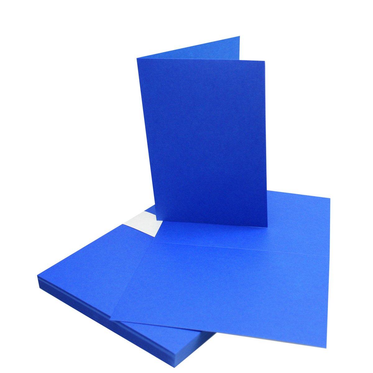 250x Falt-Karten DIN A6 Blanko Doppel-Karten in Hochweiß Kristallweiß -10,5 x 14,8 cm   Premium Qualität   FarbenFroh® B06Y3RWR3Q | Verbraucher zuerst