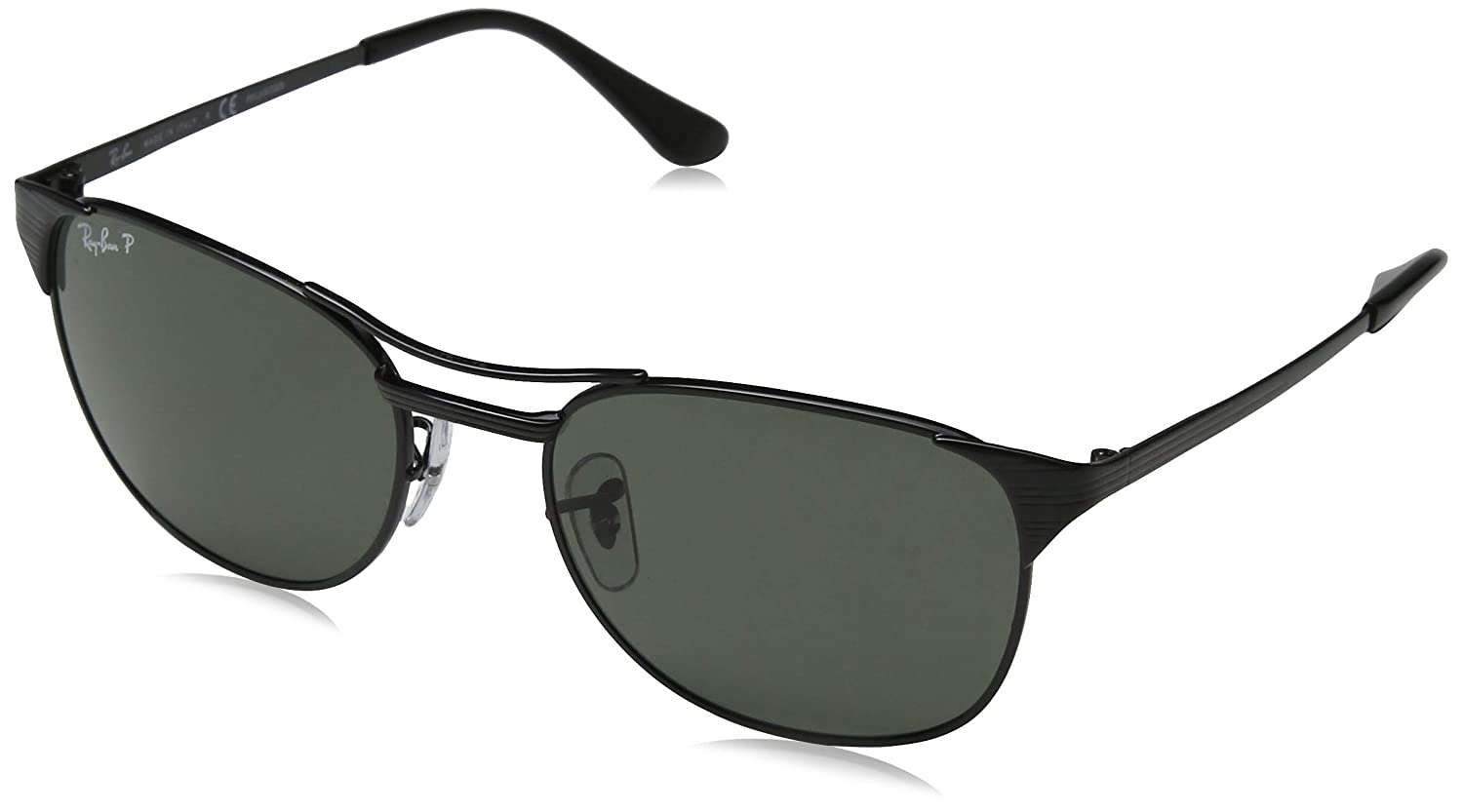 1e3ba132bd Amazon.com  Ray-Ban Signet RB3429 002 58 Sunglasses Black Frame 55mm w   Polarized Crystal Green Lens   Clothing