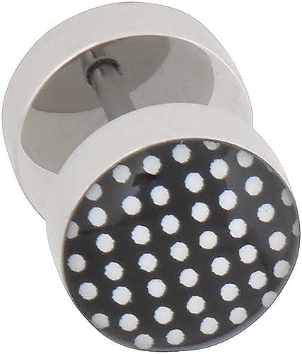PIERCINGLINE Falsa dilatación en acero quirúrgico PUNTOS 10 mm negro: Amazon.es: Joyería