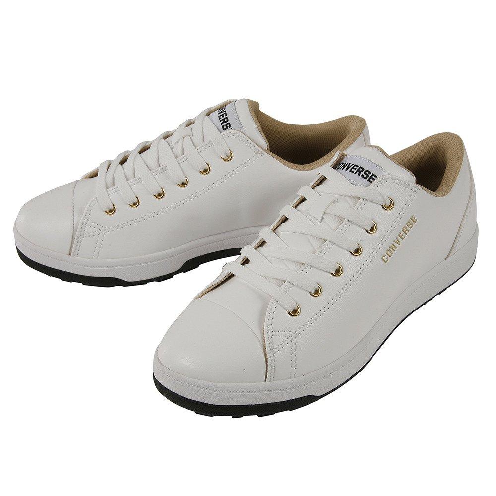 コンバース(コンバース) CV GL18 SL X OX 32765630 ゴルフシューズ B07CVQLQD2 24.5 ホワイト×ゴールド