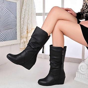 Botines Mujer Otoño Invierno Amlaiworld Moda Calzado Mujer otoño Invierno cálido Botas de Mujer Zapatos de Nieve Mujers Botines de Plataforma Zapatos de ...