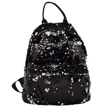 0c2b314da59 Amazon.com   Ibeauti Cute Small Backpack Purse Bling Sequins Backpack  School Bags for Teen Girls Women (Black)   Kids  Backpacks