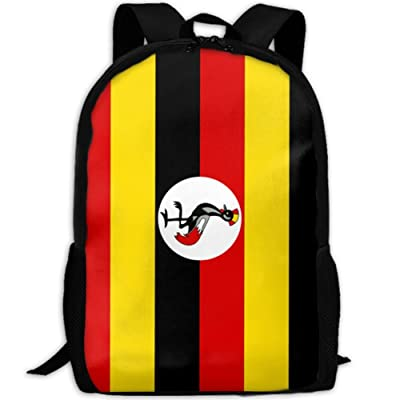 Flag Of Uganda Fashion Backpack College Travel Shoulder Bag For Unisex