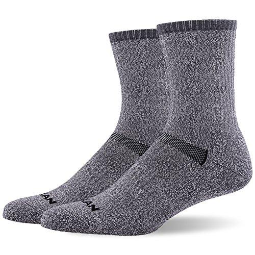 66.6% Merino Wool Hiking Socks, MEIKAN Mens Trekking Cushion Crew Socks 1, 3, 6 Pairs