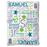 Have Faith Boutique Personalized Baby Blanket with Name- 30''x40''- Velveteen Fleece - Monsters