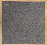 Peel and Stick Carpet Tiles Charcoal 36 Square feet Flooring