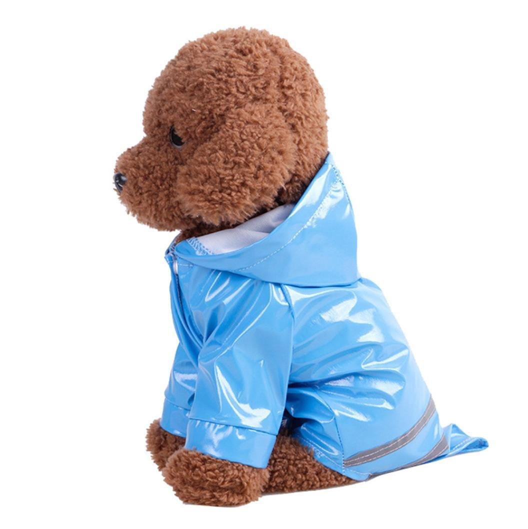 IEason Pet Clothes, 2017 Pet Dog Hooded Raincoat Pet Waterproof Puppy Dog Jacket Outdoor Coat (XL, Blue)
