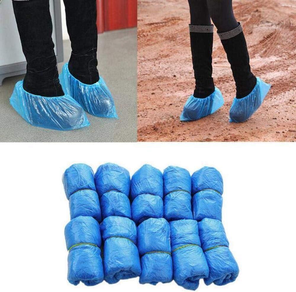 GHKJ Couvre-Chaussures de s/écurit/é en Plastique jetable Anti-d/érapant de Nettoyage en Plastique sur Les Couvre-Chaussures de Chaussures Couvre Les protecteurs de Tapis 100pcs
