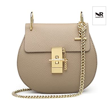 5477e90467c3 Amazon.com  Normia Rita Punk Style U-Ring Flap Bag Chain Bag Crossbody  Envelope Bag Clutch Mini Bags For Girls (Beige)  Shoes