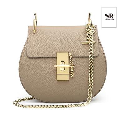 4aa3aab85c2b Amazon.com  Normia Rita Punk Style U-Ring Flap Bag Chain Bag Crossbody  Envelope Bag Clutch Mini Bags For Girls (Beige)  Shoes