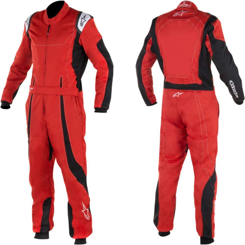 3-Layer Alpinestars 3356017-1155-56 K-MX 9 Suit Black//Yellow Fluorescent Size 56 CIK FIA Level 2
