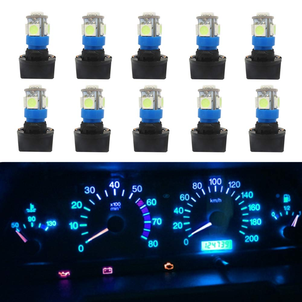 T3-1//4 cciyu 20 Pack Black 5//8 Twist In Instrument Panel Dashboard Gauge Bulbs 194 168 T10 Wedge socket Replacement fit for 194//168 type Miniature Wedge Base bulbs