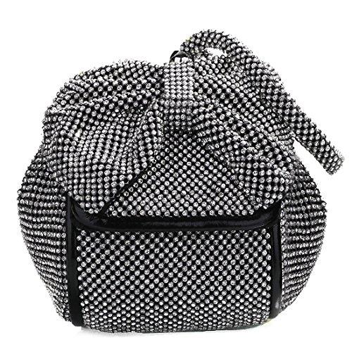 pour SSMK Pochette Noir femme Bag Evening tBqRrBz