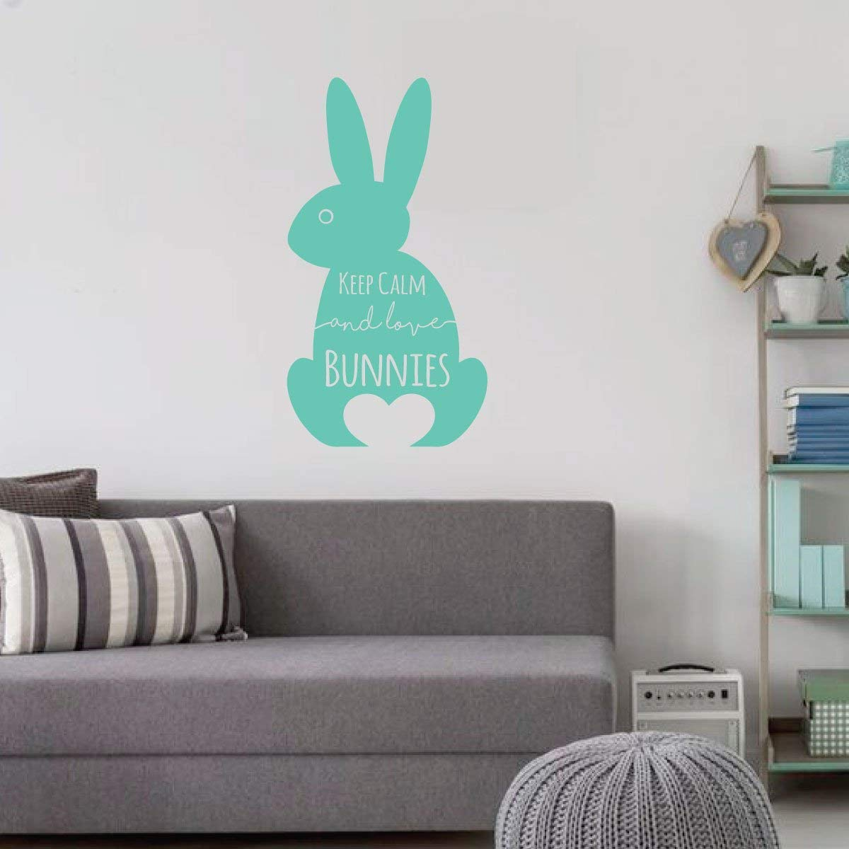 SHOW ME THE BUNNY Vinyl Design Wall Art Sticker Decal Home Decor Window