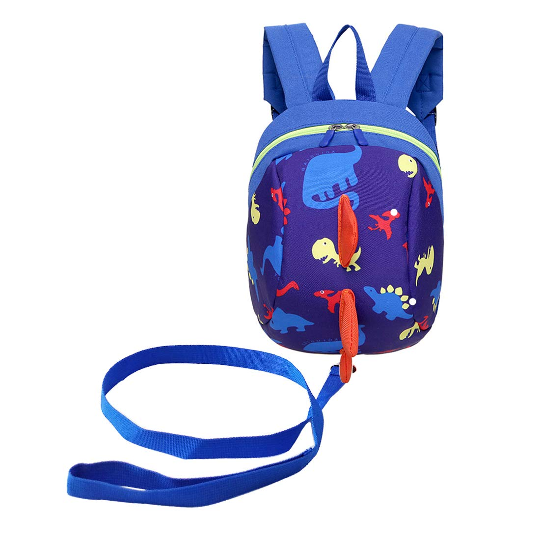 Samloong Kids Dinosaur Backpack with Safety Harness Leash Blue