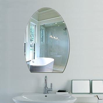 Amazon.de: LEI ZE JUN UK- Badezimmer Spiegel Oval Badezimmer Spiegel ...