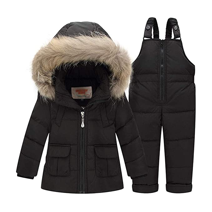 Amazon.com: LAVIQK Baby Girls 2 Piece Winter Warm Hooded Fur ...