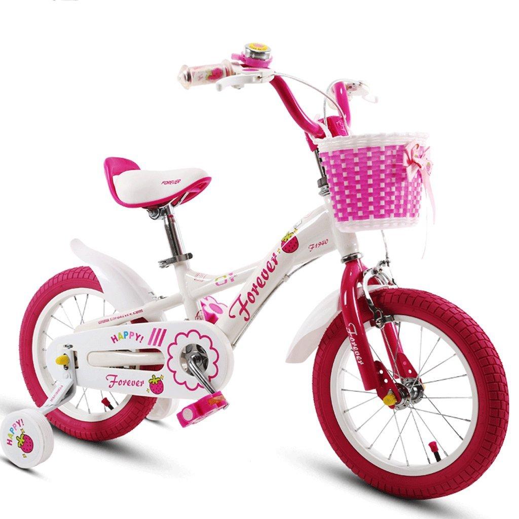 子供の自転車ベビーカー2-12歳の少年自転車の男の子自転車 (色 : ピンク ぴんく, サイズ さいず : 14 inches) B07D38BMBZピンク ぴんく 14 inches