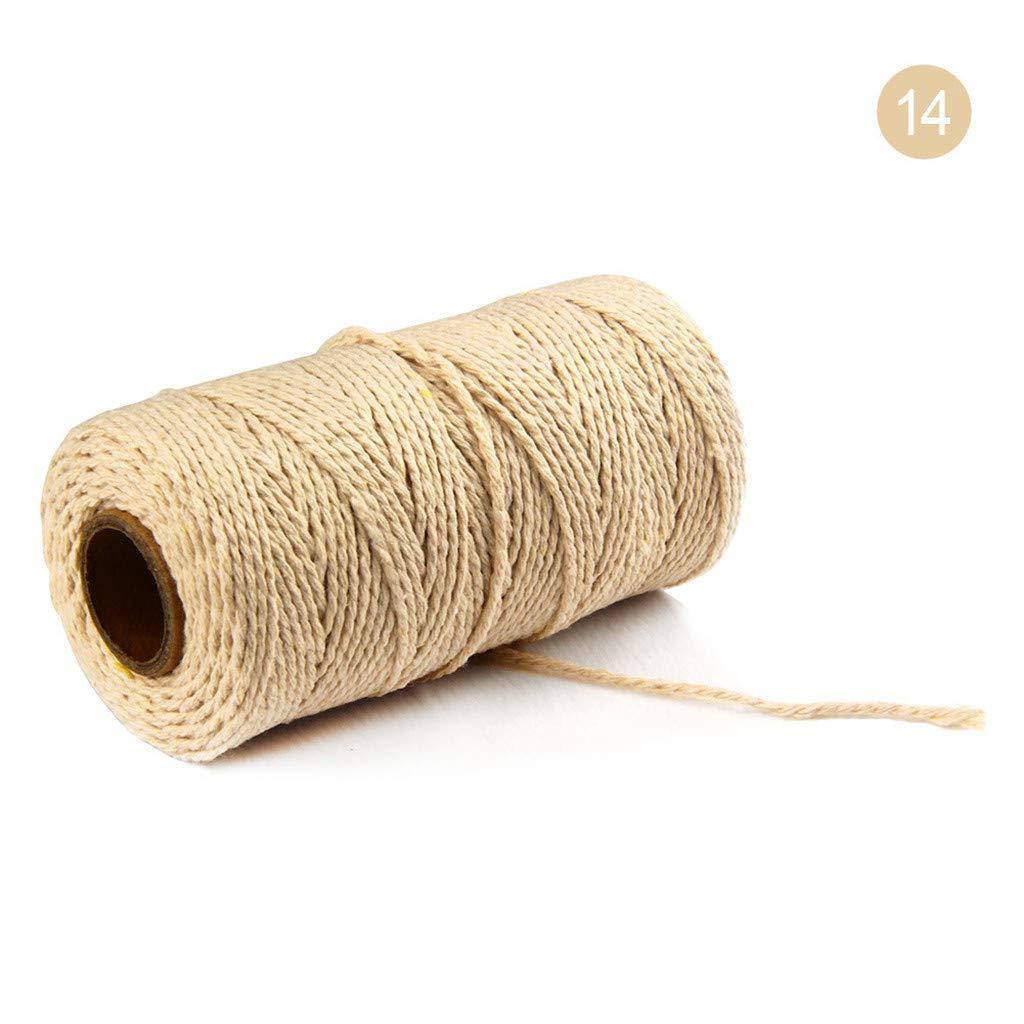 100 x 140 cm 2 mm 100 m di lunghezza//100 Yard Puro Cotone Intrecciato Corda Artigianato macram/è Artisan String Naturale Corda di Cotone n