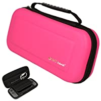 TECHGEAR Case Compatible with Nintendo Switch - Hard Protective Carry Travel & Storage Case Cover made for Nintendo Switch + Joy-Con controllers + Game Cards + Accessories [PINK]