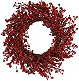 Teters 760f170113 Berry Christmas Wreath, Red