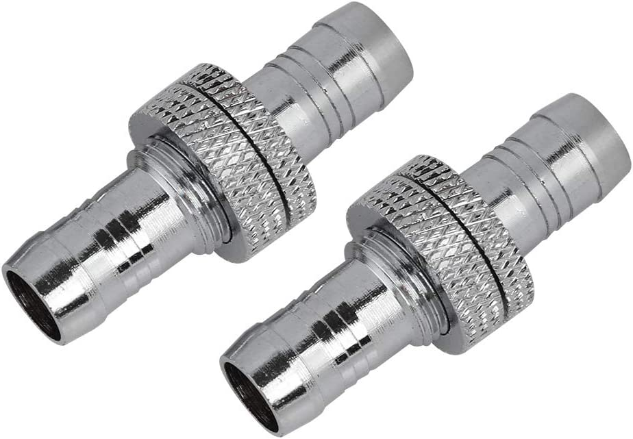 11mm ASHATA G1//4 Computer Water Cooling Cooler Connector 2-Pack Solid Connection Brass for Water Cooling Fitting