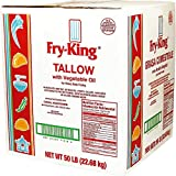 Fry King Beef Tallow with Vegetable Oil For Heavy Duty Frying | 50 Pound