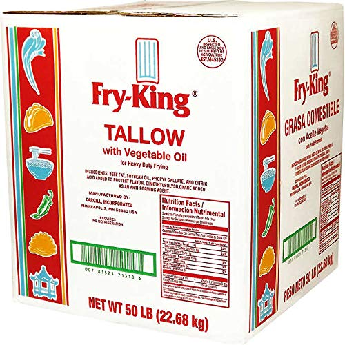 Fry King Beef Tallow with Vegetable Oil For Heavy Duty Frying | 50 Pound by Fry King (Image #1)