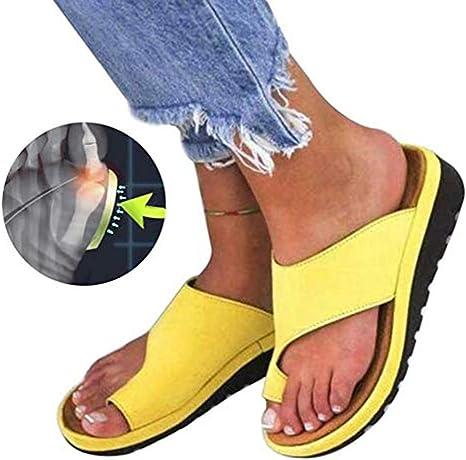 LCCYJ Plataforma de Mujer Sandalia de cuña Zapatillas de Juanete Correctas para la Corrección del Hueso del Dedo Gordo del Pie Zapatillas de Playa de Verano Zapatillas de Viaje,T01,40: Amazon.es: Deportes y