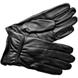 Leather Emporium Mens New Black Soft Leather Driving Gloves