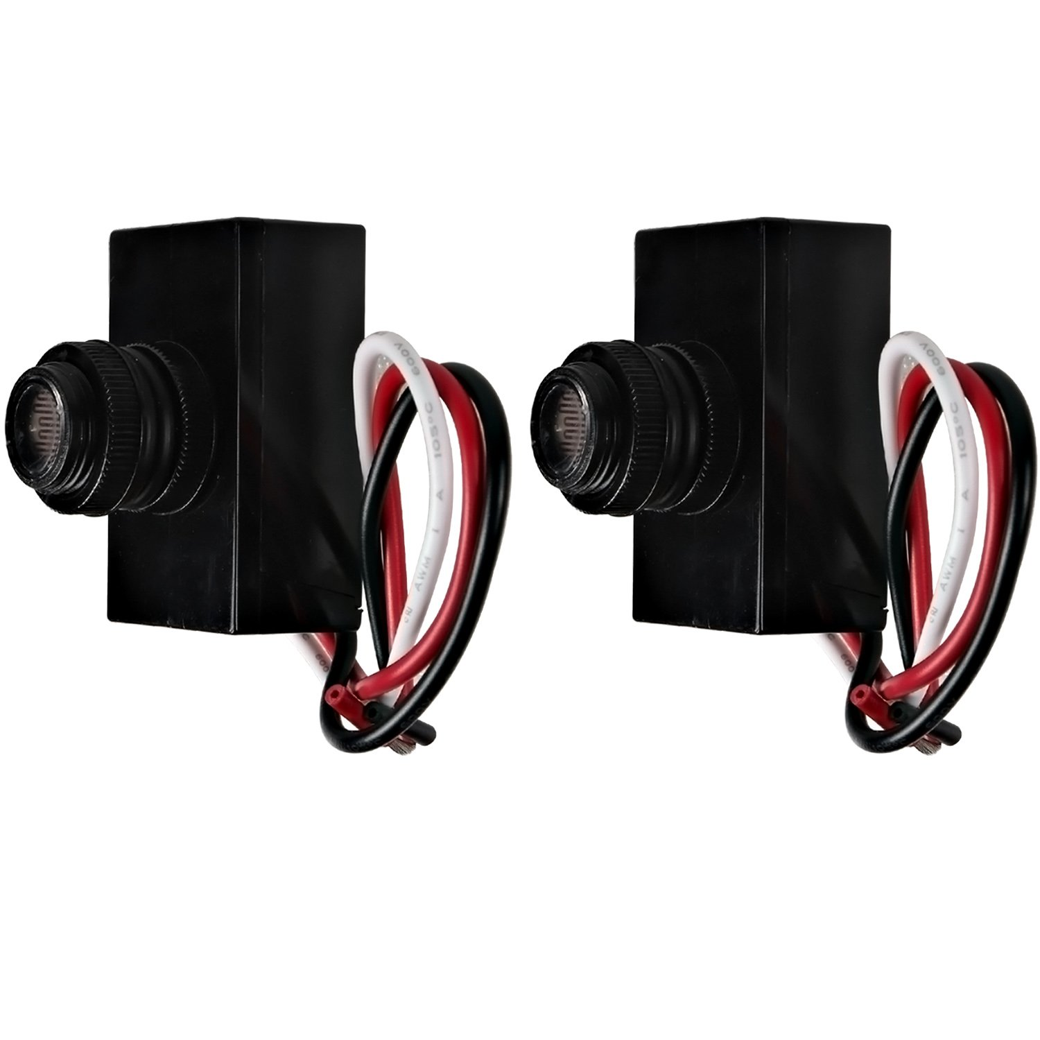 Best Photo Eyes For Lights Eye Sensor Wiring Hykolity Outdoor Post Light Controlthermal Type Control Dusk To Dawn Switch Pack Of 2