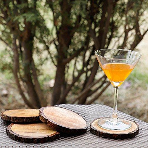 Homesake® Large Natural Mango Tree Bark Wooden Coasters with Hemp Tie -5 inch, Brown (Coasters Set of 4) Price & Reviews