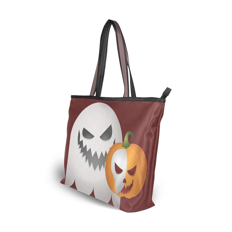 Lightweight Tote bag,Halloween Ghost Spooky Pumpkin,Handbag for Women